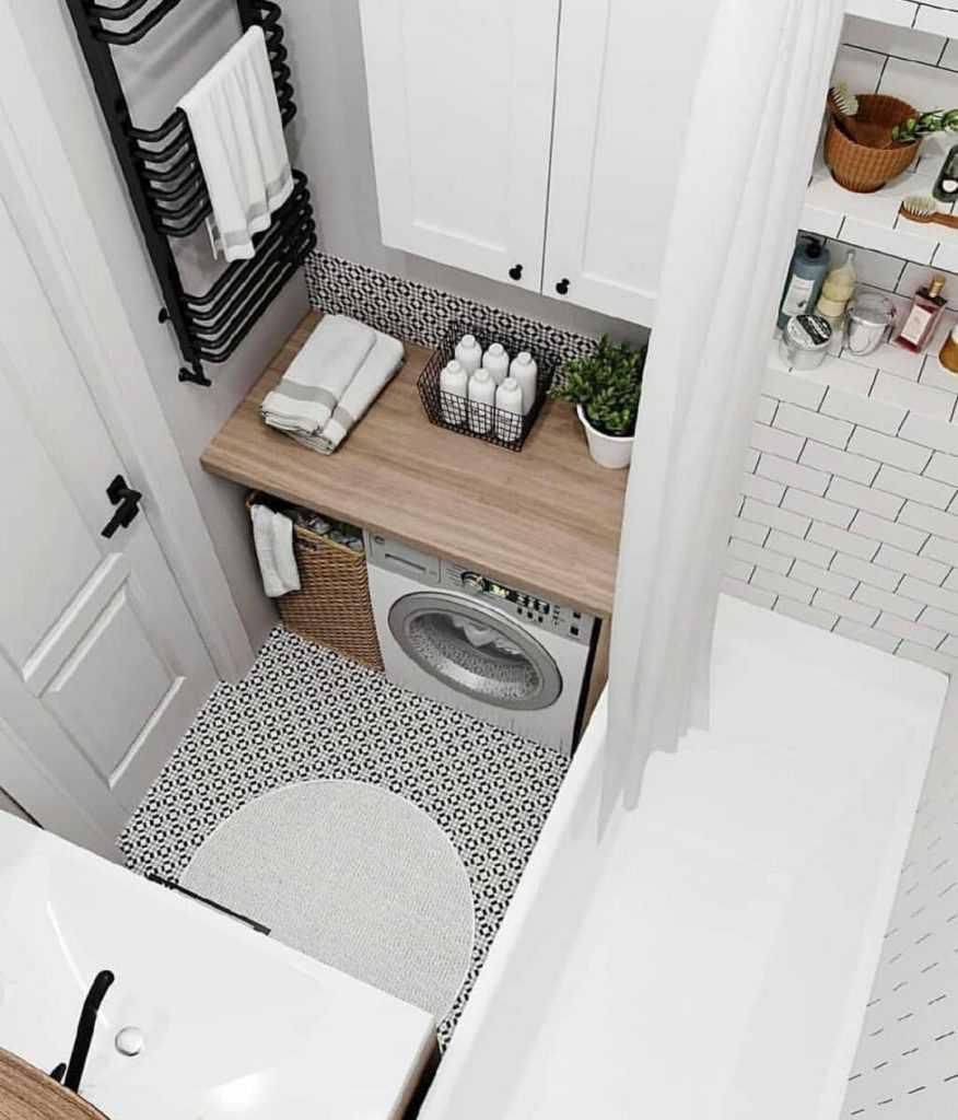 Размещение вещей в маленькой ванной